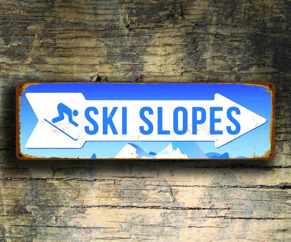 Ski Slopes Sign
