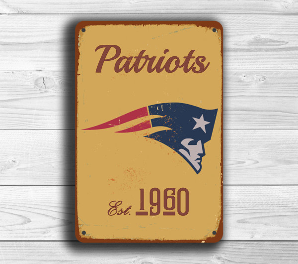 New England Patriots Logo Sign