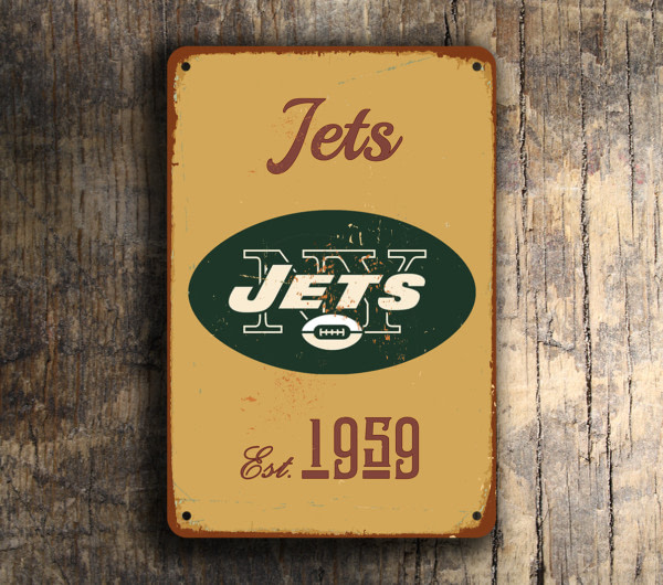 New York Jets Football Sign