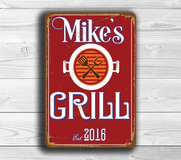 PERSONALIZED GRILL Sign