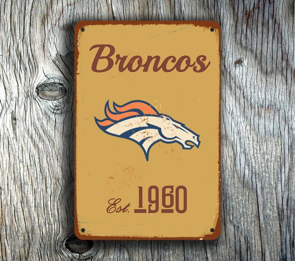 Denver Broncos Logo Sign