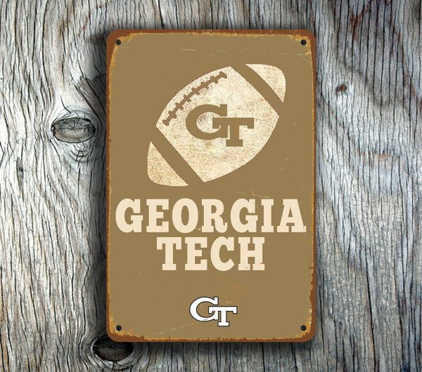 Georgia Tech Signs Vintage style