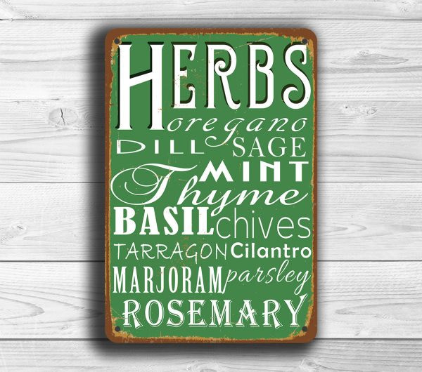 Kitchen Herbs Sign