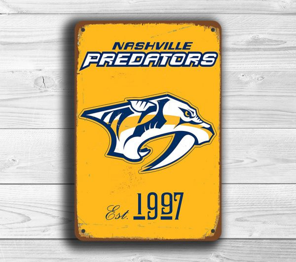 NASHVILLE PREDATORS Sign