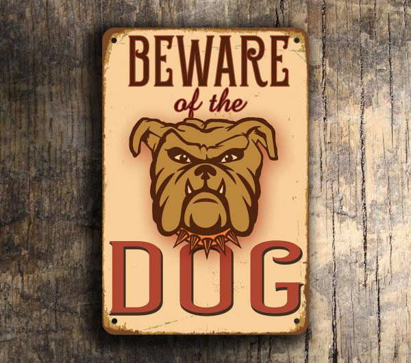 Vintage style Beware dog Sign