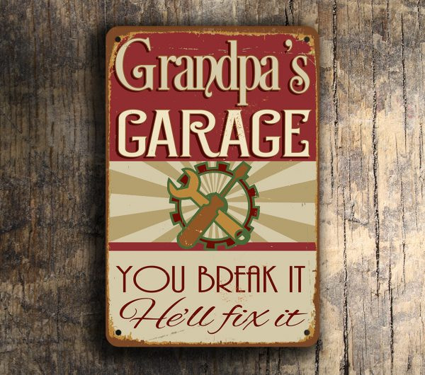 GRANDPAS GARAGE SIGN