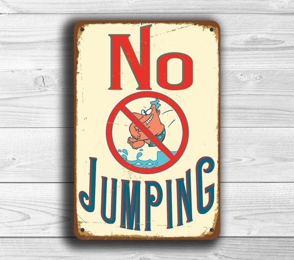 No Jumping Sign