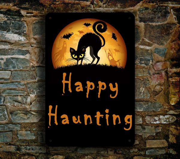 Happy Haunting Sign
