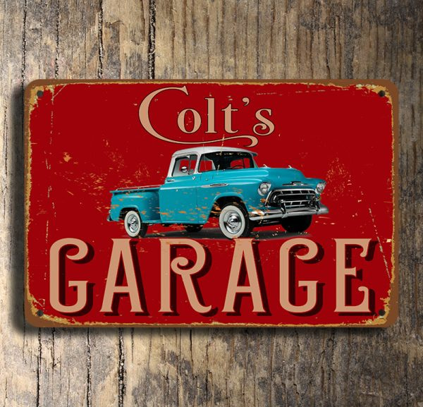 Pick Up Truck Garage Sign