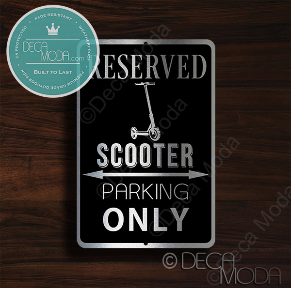 Scooter Parking Only Sign