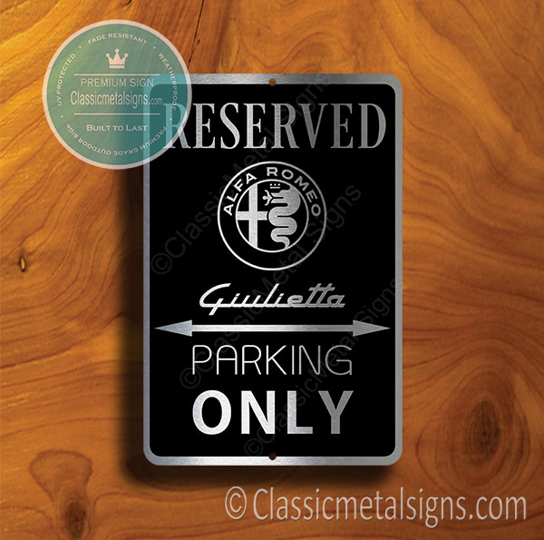 Alfa Romeo Giulietta Parking Only Signs