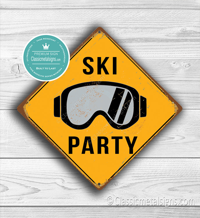 Ski Party Sign
