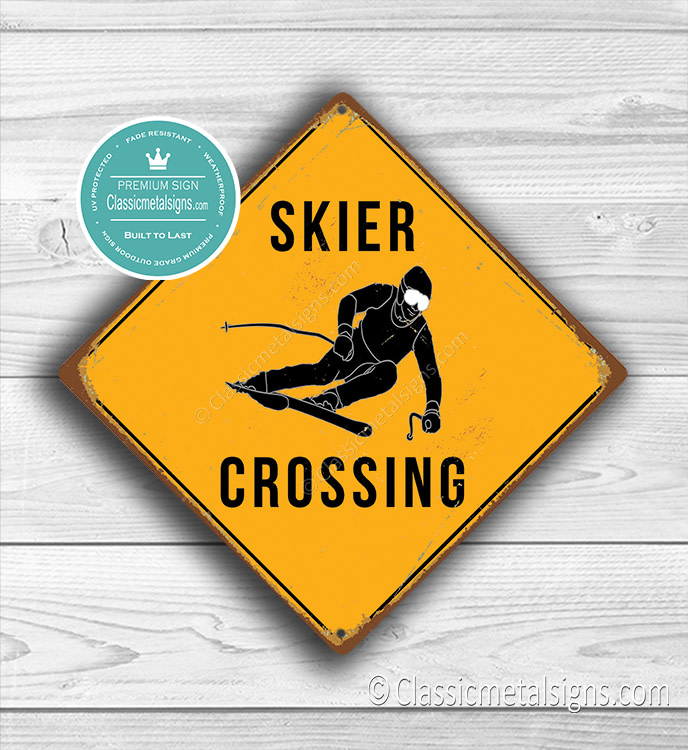 Skier Crossing signs