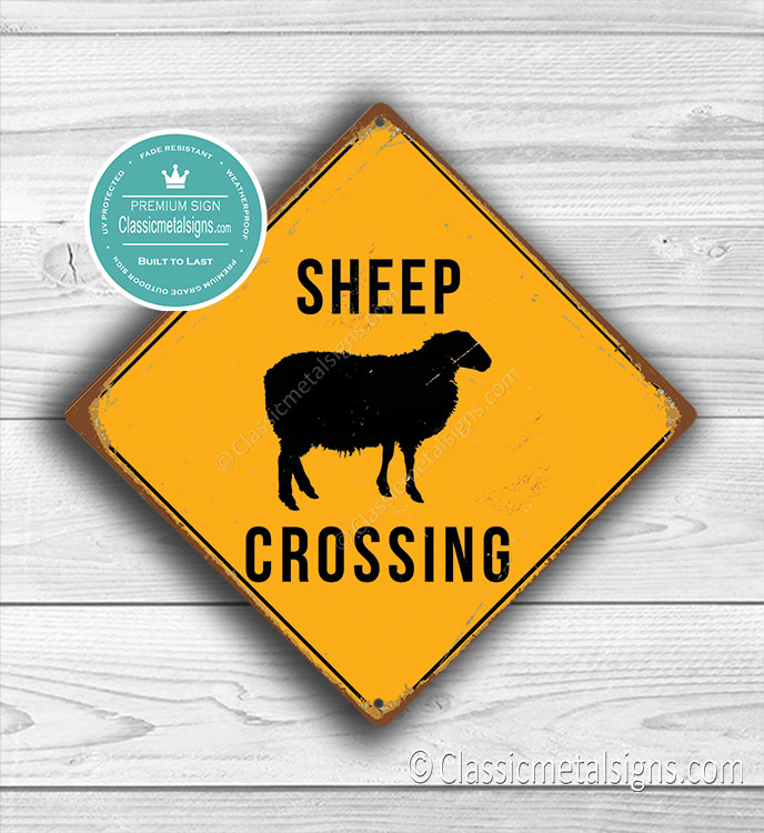 Sheep Crossing Sign