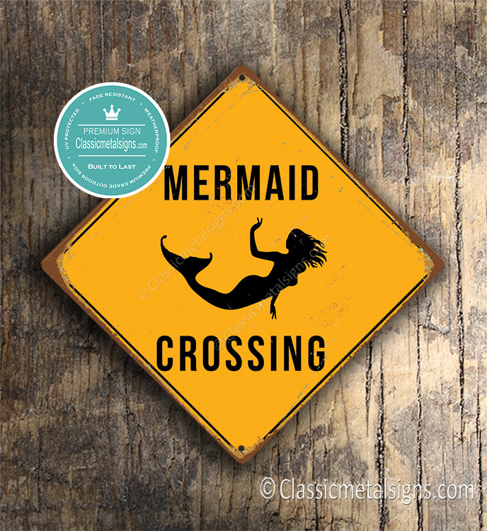 Mermaid Crossing Sign