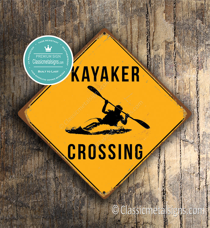 Kayaker Crossing Sign