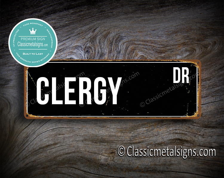 Clergy Street Sign Gift