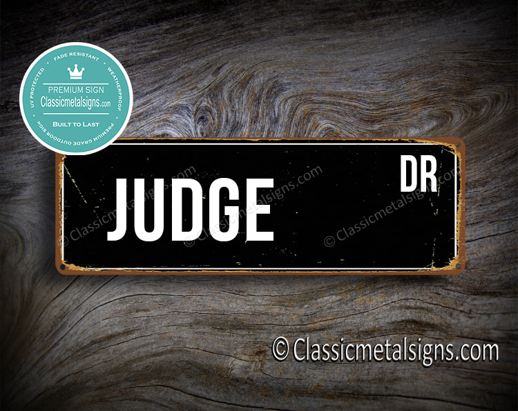 Judge Street Sign Gift
