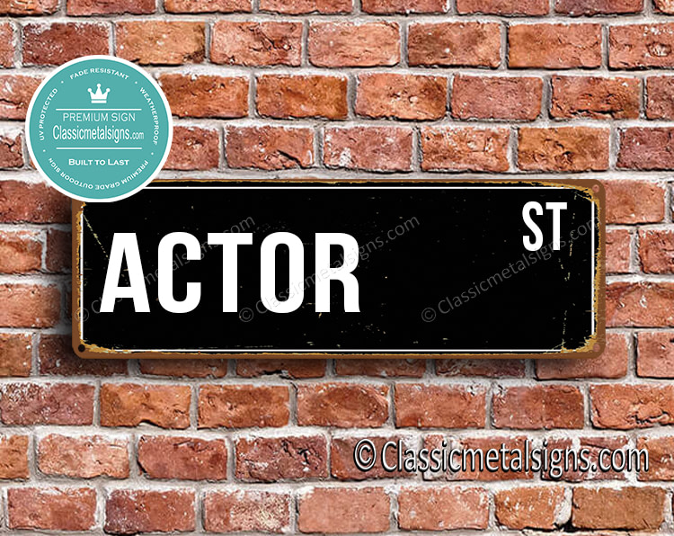 Actor Street Sign Gift