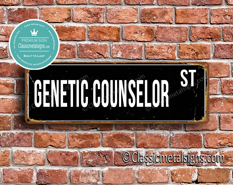 Genetic Counselor Street Sign Gift