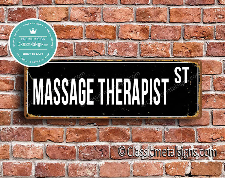 Massage Therapist Street Sign Gift