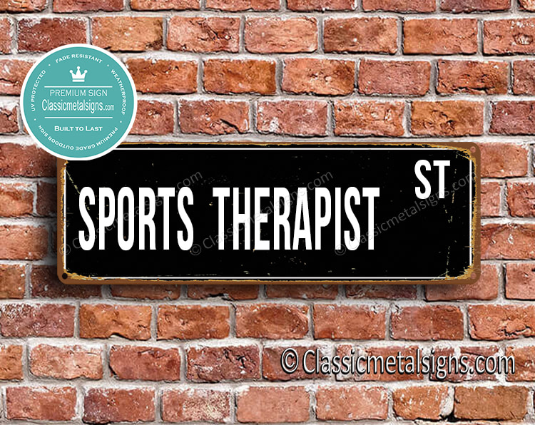 Sports Therapist Street Sign Gift