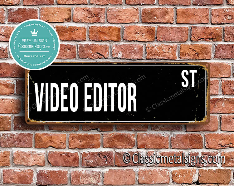 Video Editor Street Sign Gift