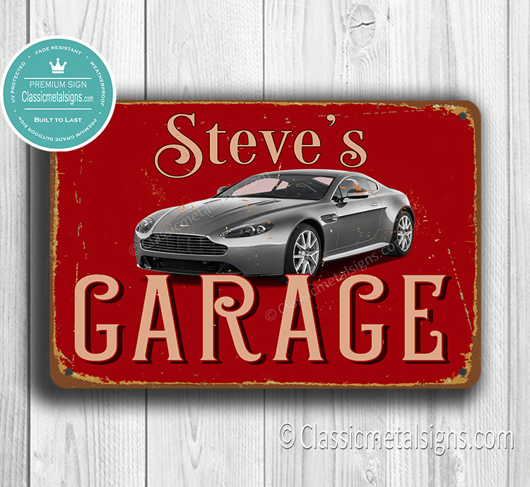Personalized Astin Martin Garage Sign