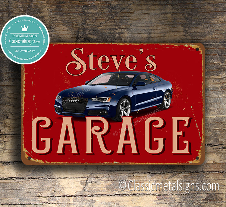 Personalized Audi Garage Sign