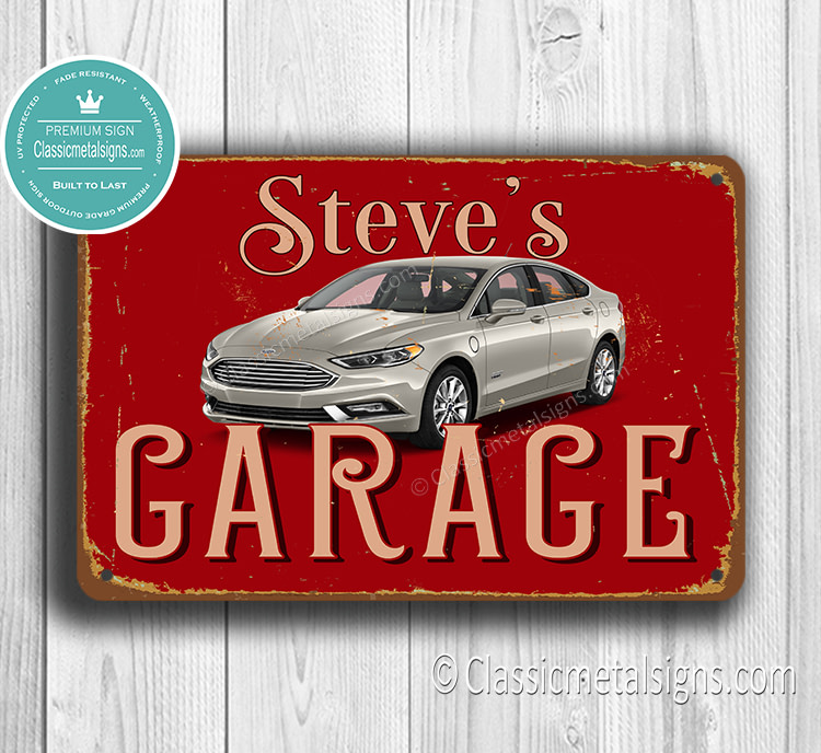 Personalized Ford Garage sign