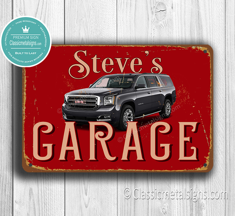 Personalized GMC Garage Sign