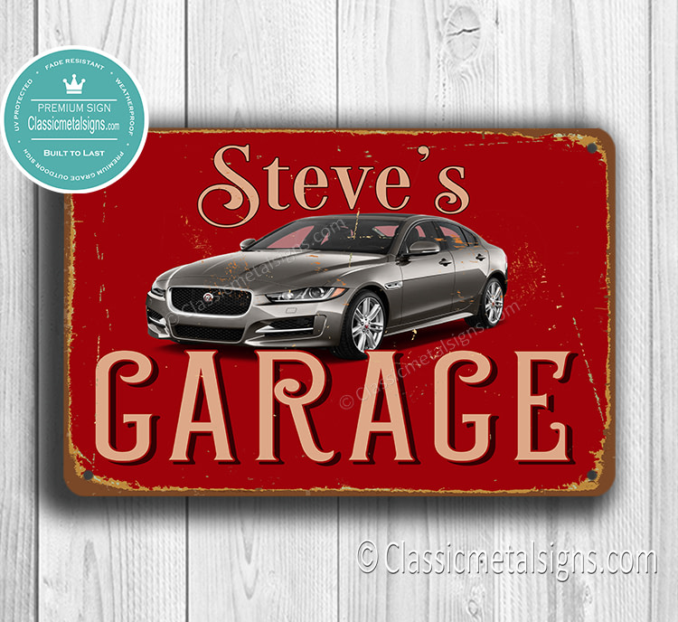 Personalized Jaguar Garage Sign