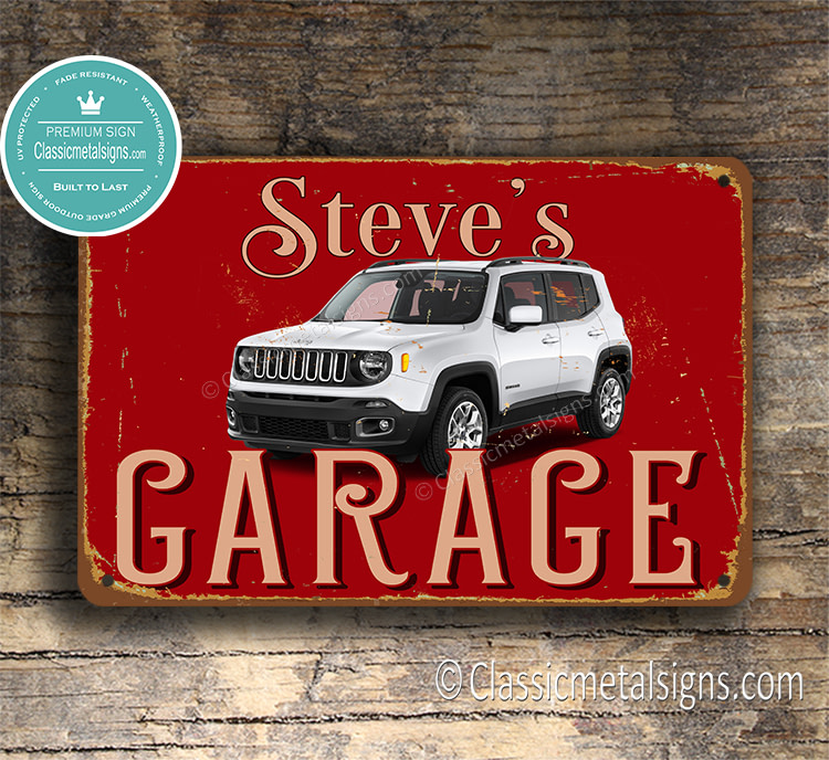 Personalized Jeep Renegade Garage Sign