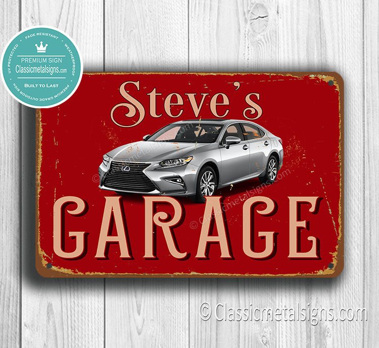 Peraonalized Lexus Garage Sign