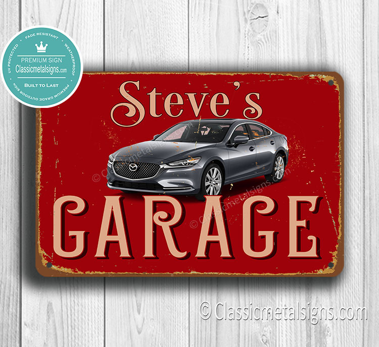 Peraonalized Mazda Garage Sign