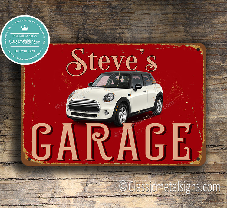 Personalized Mini Garage Sign