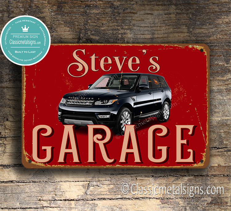 Personalized Range Rover Garage Sign