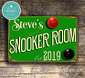 Snooker Room Sign