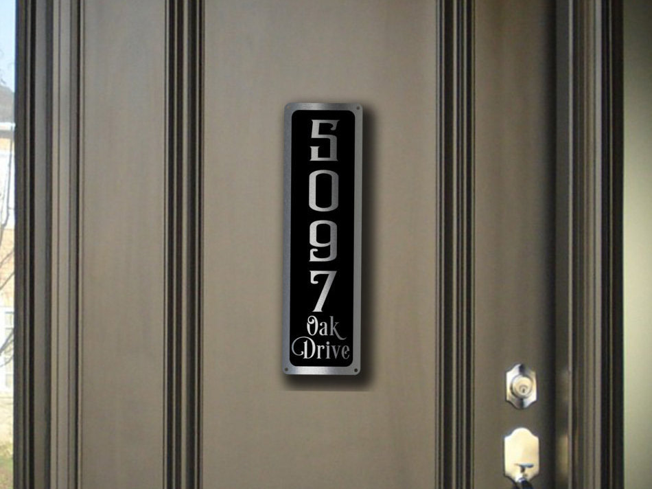 MODERN HOUSE NUMBERS Sign